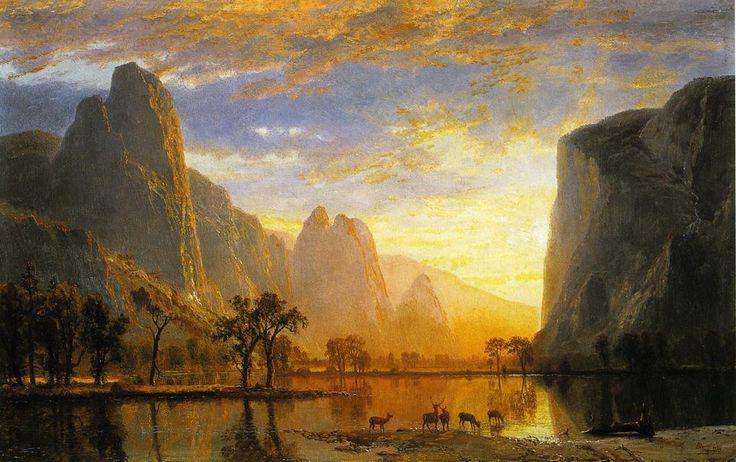 Albert Bierstadt (American, b. Germany, 1830-1902)    Valley of the Yosemite