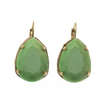 Handmade green earrings, by Art Wear Dimitriadis