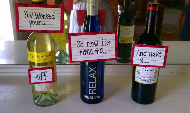 super cute alcoholic gift idea from thenewlywedwife.com