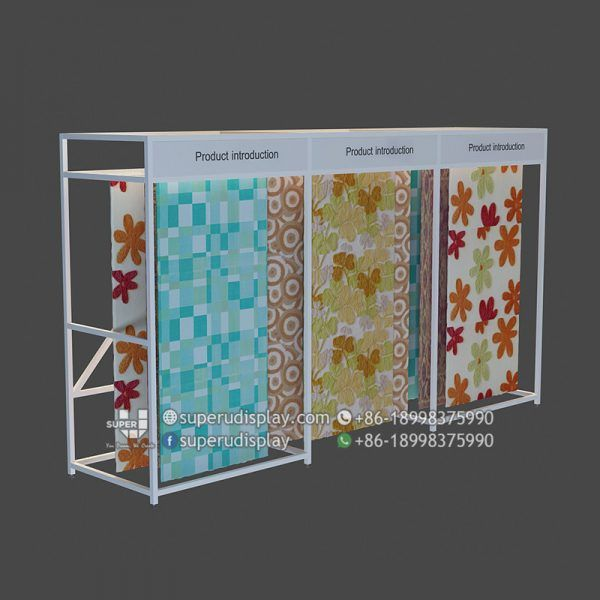 Wall Stand Commercial Curtains Carpet Hanging Rug Rack Store Display Design Shop Fittings Curtains
