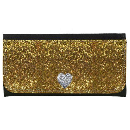 #Zazzle Golden Love Wallet by elenaind