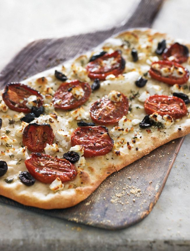 Flatbread with Feta, Thyme and Oven-Roasted Tomatoes