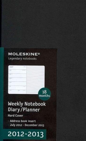 Moleskine Weekly Notebook Diary / Planner July 2012 - December 2013 Calendar