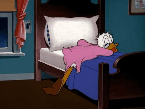 Too tired to sleep. Drip Dippy Donald (1948)