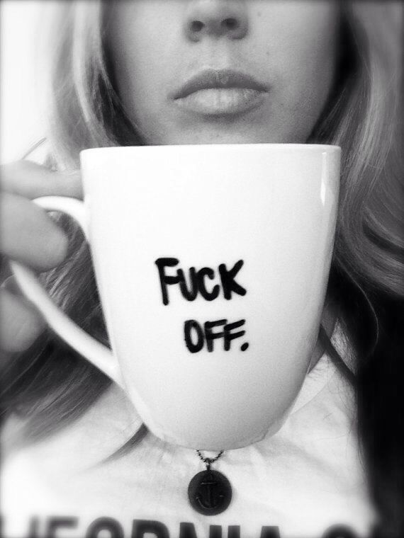 .I so need this coffee cup.  Don't think it would go over very well at the office but I do need it.....;)