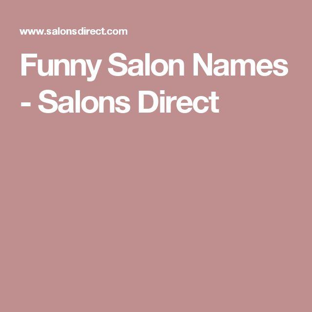 Funny Salon Names - Salons Direct