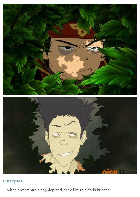 when avatars are sleep deprived they like to hide in bushes hahahahahahaha