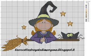 Crocette stregate: Per Halloween. Find pattern on website, then click on picture to enlarge.