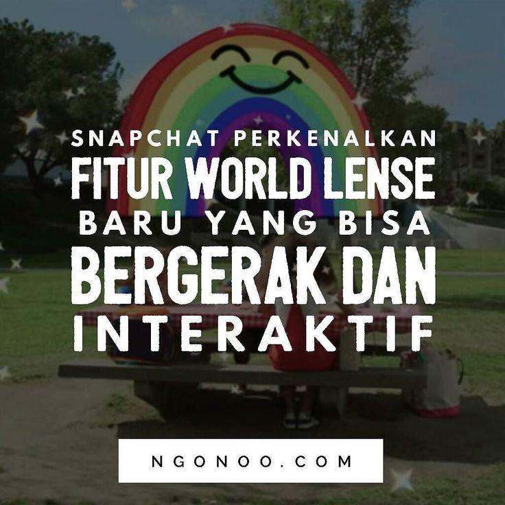 https://ngonoo.com Dengan memanfaatkan teknologiaugmented reality(AR)  Snapchat memperkenalkan World Lenses baru berupa aneka macam efek visual yang bisa ditambahkan di lingkungan sekitar.  Fitur tersebut merupakan mengembangan lebih lanjut dari World Lens yang pertama kali diperkenalkan pada November lalu. Bedanya World Lens kali ini bisa bergerak berubah ketika pengguna bergerak dan memasukkan sedikit unsur interaktif. Nah aneka macam efek visual World Lenses tersebut bisa bro n sest…