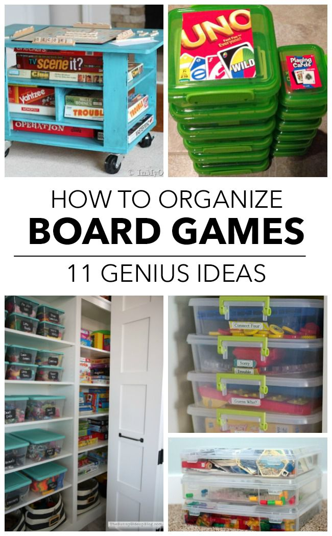 11 Ways To Finally Get Your Board Games Organized Kids
