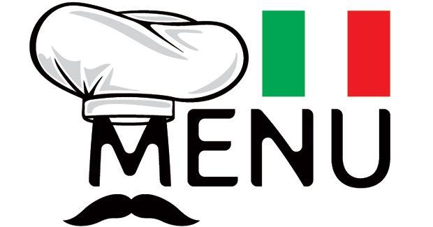 Het Italiaanse menu