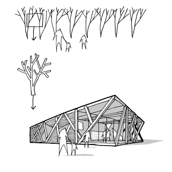 #Architecture ~ School's Tree Inspired #Facade by REBILDPORTEN