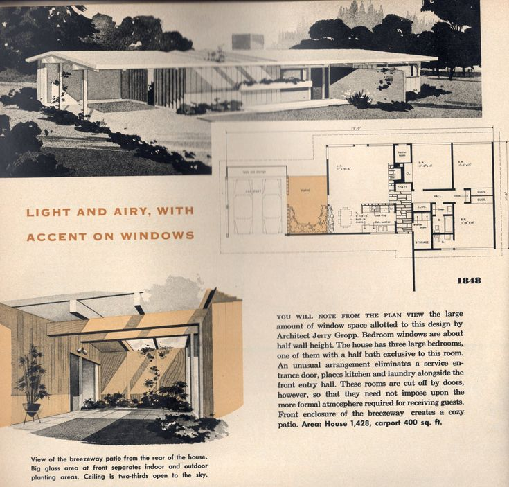 Atomic Ranch Elevation House Plan : Best images about atomic ranch on pinterest floor