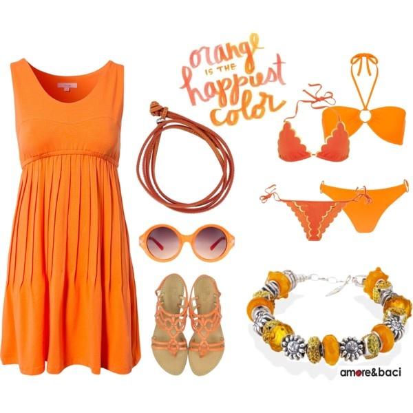 """""""Amore & Baci orange set"""" by amoreebaciworld on Polyvore"""