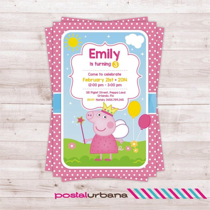 58 best aris peppa pig 2nd birthday images on pinterest 2nd peppa pig invitation birthday party peppa pig birthday party invitation by postalurbana on etsy stopboris Image collections