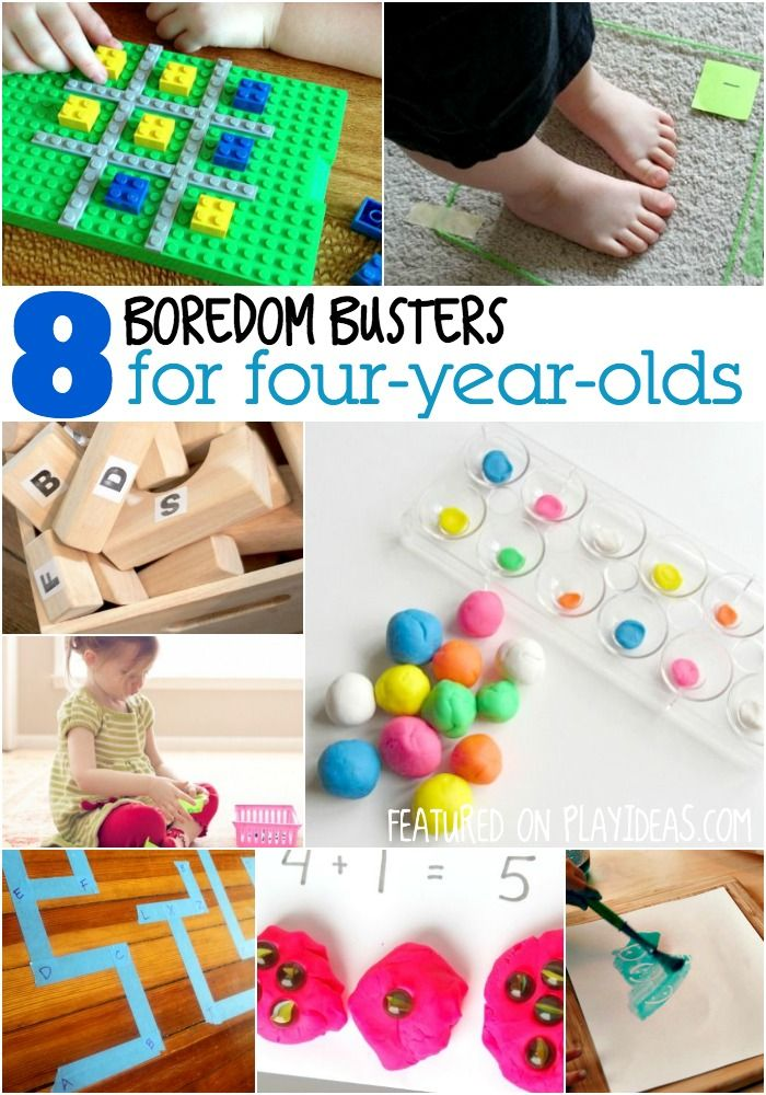 Boredom Busters for Four-Year-Olds