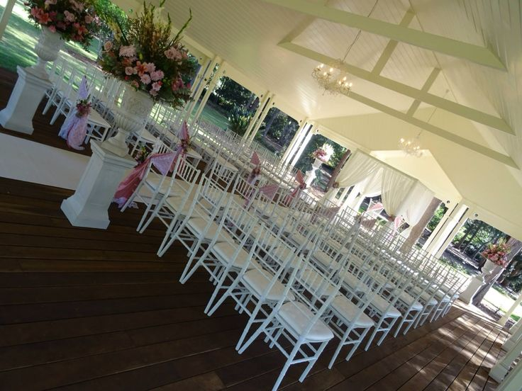Tiffany chairs are perfect for a  vintage style formal ceremony