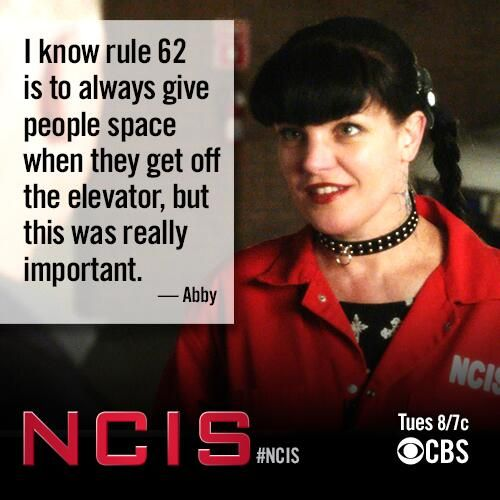 Abby - I know rule 62 is to always give people space when they get off the elevator, but this was realy important.
