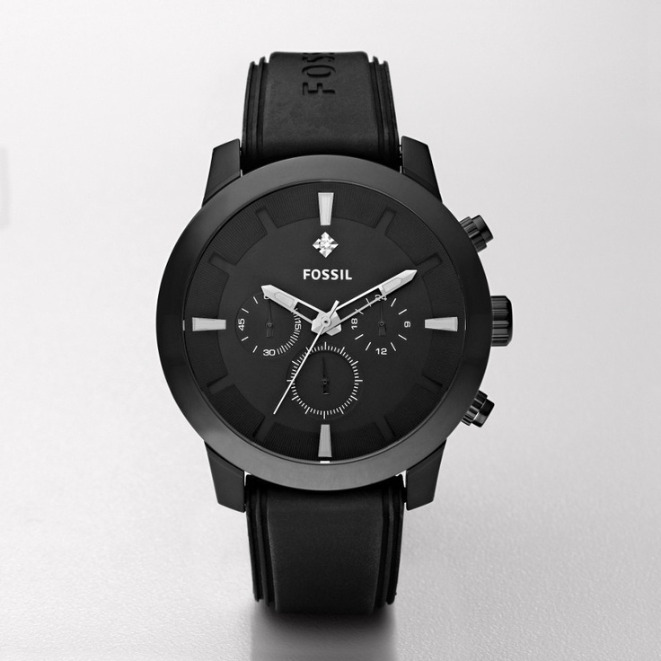 Dress Silicone Watch – Black: Fossil Watches Men, Fossil Men Watches, Fossil Dresses, Black Fossil, Fossil Watches For Men, Silicone Black, Fossils, Fossil Fs4619, Dresses Silicone