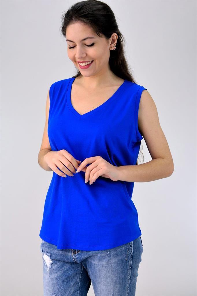 Potre – Plus Size αμάνικη μπλούζα