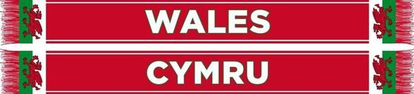 Wales football scarf The Welsh National Team, aka The Dragons, is a proud team that has featured legends such as Gary Speed, Ian Rush, Neville Southall and others. Side one: WALES Side two: CYMRU High