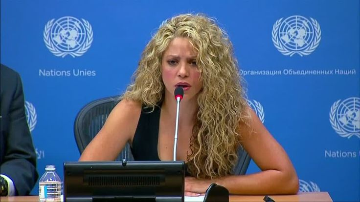 Colombian pop star and Unicef Goodwill Ambassador Shakira calls for a 'just exit' to the refugee crisis at the United Nations.