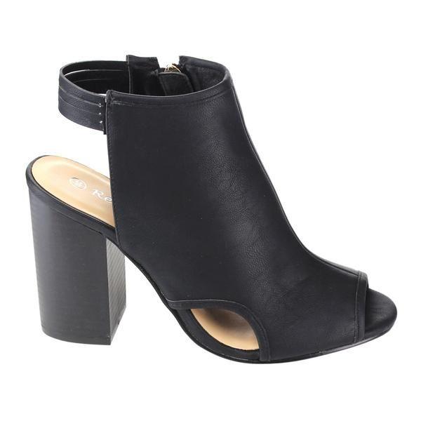 Reneeze AC73 Women's Side Zipper Cut Out Multi-strap Block Heel Ankle Bootie - $89.97