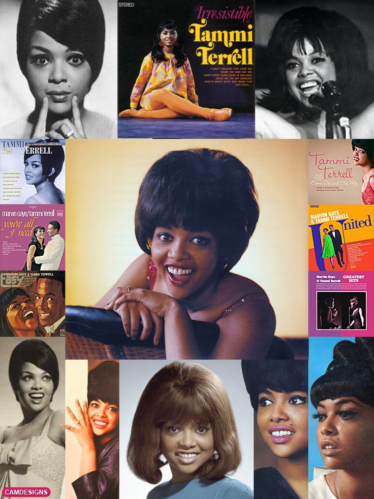 """Thomasina Winifred Montgomery, known as Tammi Terrell (April 29, 1945–March 16, 1970) was an American recording artist & songwriter most notable for her association with Motown Records & her duets with Marvin Gaye. After modest solo success her stardom grew when paired with Gaye in 1967. On Oct. 14, 1967 she collapsed on stage into Gaye's arms. Diagnosed with a malignant brain tumor, she died 2 years later at the age of 24. Hear Tammi's """"This Old Heart Of Mine"""" in my board """"My Music: The…"""