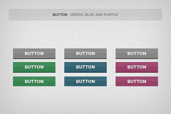 Check out Not only Flat Buttons by Riccardo Anelli on Creative Market ::: Made with @adobe Photoshop ::: #website #websites #webdesign #web #design #ui #userinterface #ux #userexperience #flat #3d #button #professional #elegant #clean #normal #hover #pressed #gray #green #blue #purple #calltoaction #rectangle #corner #emboss #depth #reflection #pattern
