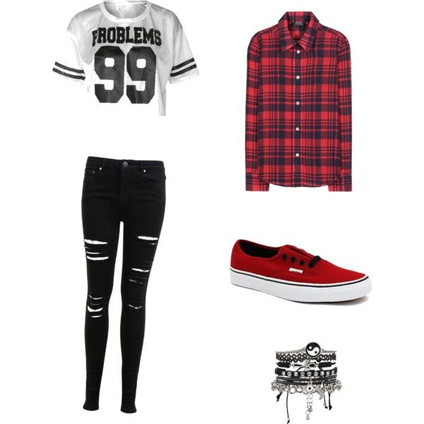 Super cute by ozilla7235 on Polyvore featuring polyvore fashion style A.P.C. Miss Selfridge Vans ASOS