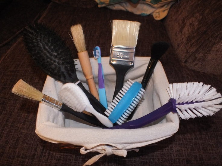 Brushes treasure basket