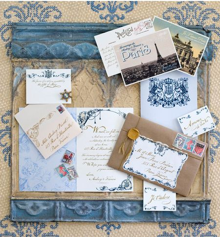blue- cute idea- stain some decorative trim and add to top and bottom of bulletin board (or dry erase board) to jazz it up!Ideas, Bulletin Boards, Wedding Invitations, Inspiration Boards, Parisians Style, Paris Wedding, French Blue, Parisians Wedding, Paris Invitations