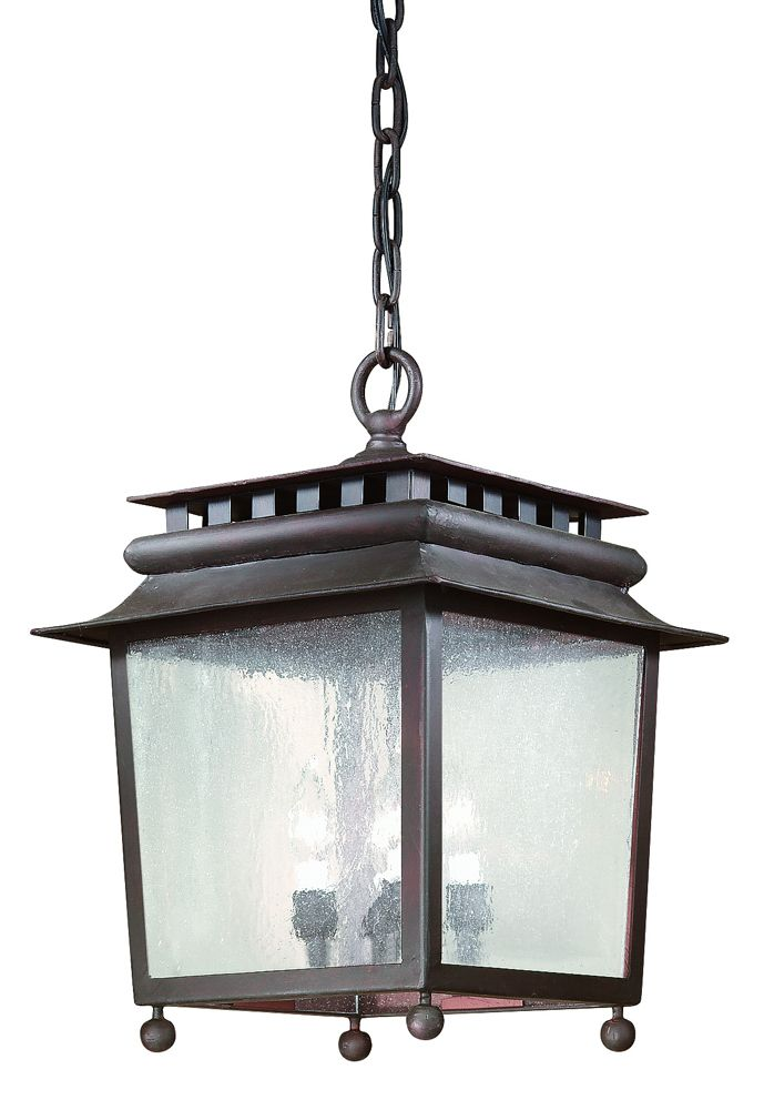 St Germaine Hand Forged Iron Exterior 4 Light Large Ceiling Mount Hanging Fcd8984or
