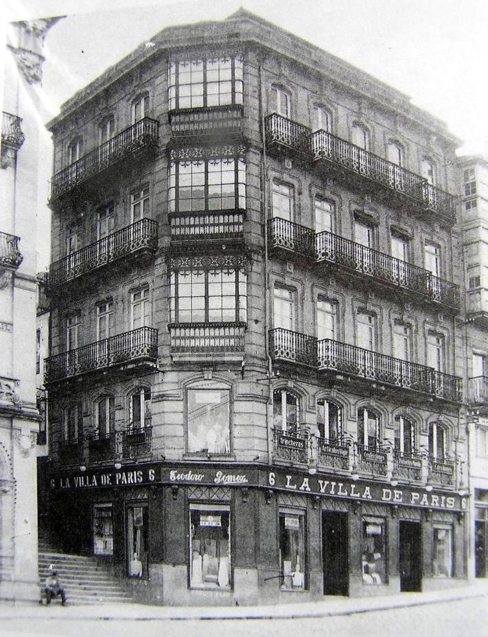 """Porta do Sol. Edificio de Jenaro de la fuente, outra vítima da ignorancia e do """"progreso"""""""
