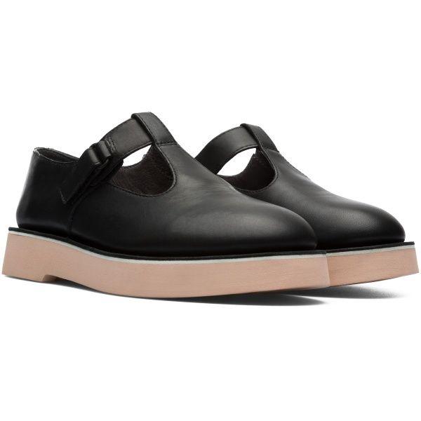 8bcea07ea1d Camper Tyra Black Formal Shoes Women K200711-002