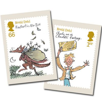 Large image of the Roald Dahl Stamp Cards (11 in set)