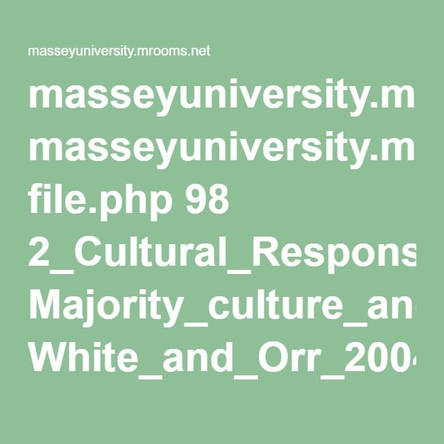 masseyuniversity.mrooms.net file.php 98 2_Cultural_Responsiveness Majority_culture_and_education White_and_Orr_2004.pdf
