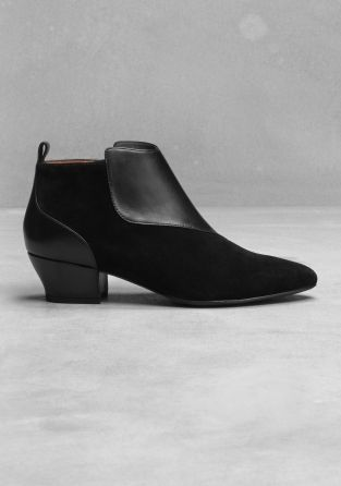 gimme these slim leather ankle boots - & other stories