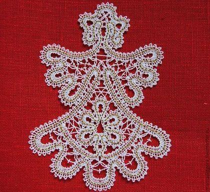Ангел Рождественский. - белый,фигурка,зима,елочные игрушки,елочные украшения