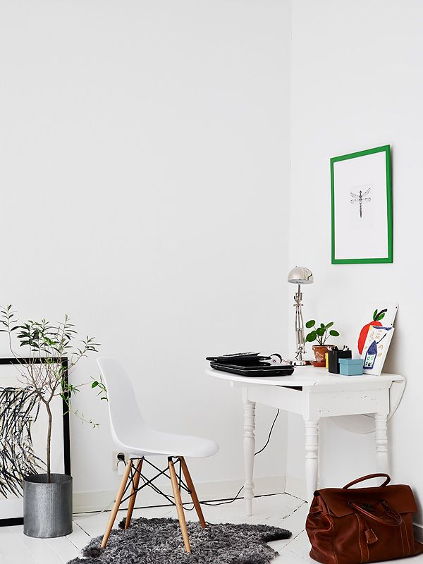 Swedish home tour: white with splashes of colour
