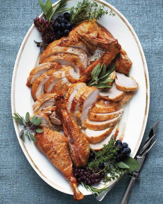 Roasted Dry-Brined Turkey Recipe>>I never tried brining with loads of liquid due to lack of fridge space. This is genius!