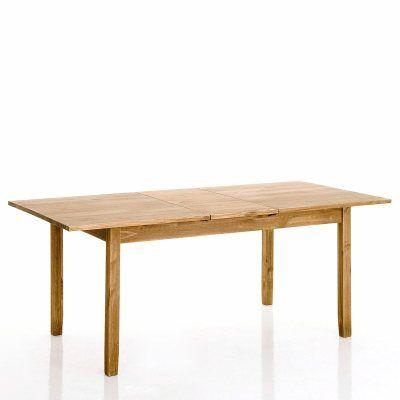 Table en pin massif avec rallonge.  Le top pour la solidité, le style et le prix.  Minimum d'encombrement avec la rallonge qui permet d'accueillir facilement 8 convives autour d'un bon repas.  Pratique, cette table est faite pour durer.  Sur soliles.com, il existe une multitude de meubles, de tables et de décorations pour la maison.