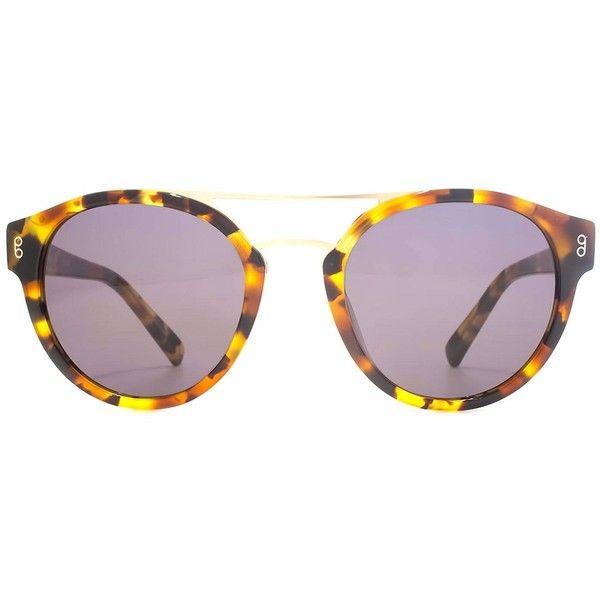 Hook LDN - Brook Marmalade Tortoiseshell (162 AUD) ❤ liked on Polyvore featuring accessories, eyewear, sunglasses, round tortoiseshell sunglasses, tortoise sunglasses, round tortoise sunglasses, round glasses and tortoiseshell sunglasses