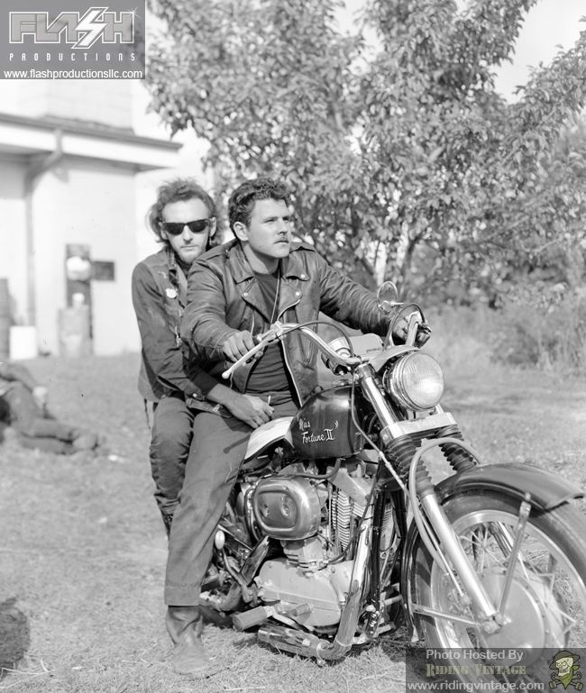 "Riding Vintage article on ""Portraits of American Bikers:  Life in the 1960s"", a collection of photographs taken by Jim Miteff of the Outlaws Motorcycle Club in the late 1960's."