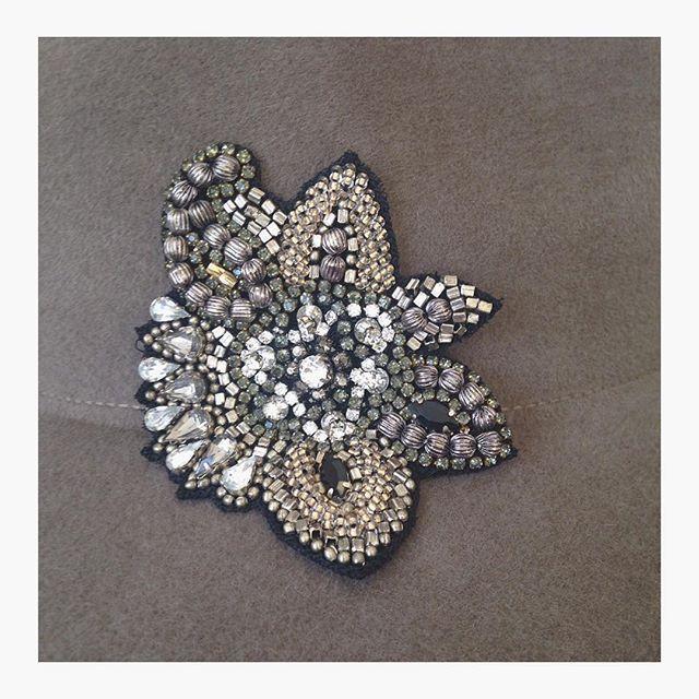 #AW16 #sampling #penmaynestudio #embellishment #beading #gold #bronze #silver #metallics #inspiration #hats #fedora #trilby #luxury #accessories