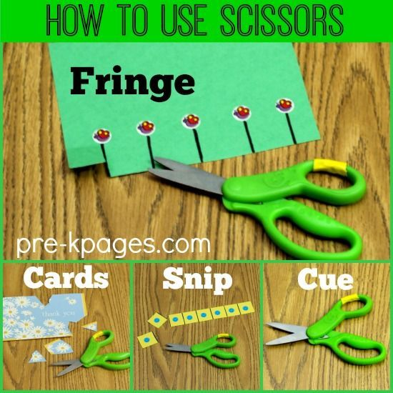 Teaching Kids How to Use Scissors.  This page is a great resource to help you teach fine motor and scissors skills in an appropriate and developmental way.  Great info!  Read more at:  http://www.pre-kpages.com/tips-for-teaching-scissor-cutting-skills/