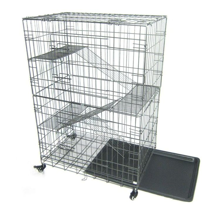Reveles Portable Cat Cage with Ladders Cat cages, Cat