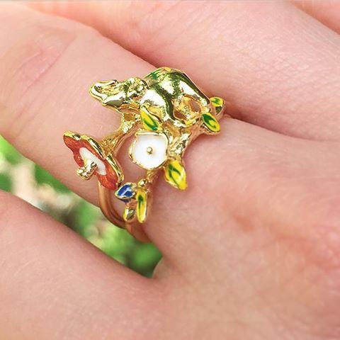 :: The Elephant Festival Ring || Now 40% Off ::   .  .  .  #BillSkinner #elephants #elephantsofinstagram #fashionphotography #jewellery #jewellerylovers #jewellerysale #elephantring #stackingrings #enamel #handpainted #handcarved