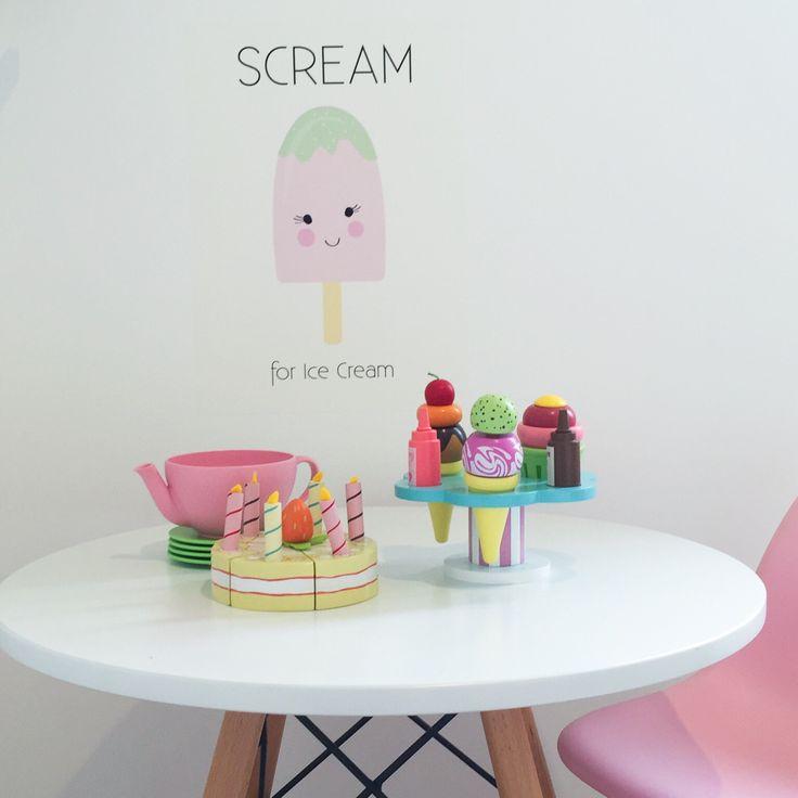 Wall decal. wall sticker. poster print. icecream