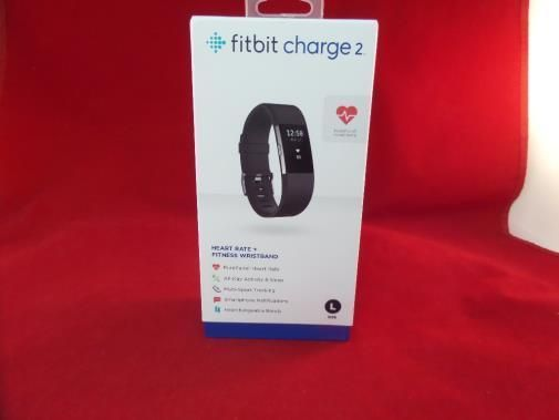 BRAND NEW SEALED Fitbit Charge 2  Fitness Wristband Black (LARGE)